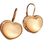 Stunning Pasquale Bruni 18K & 14K MOP Diamond Heart Earrings