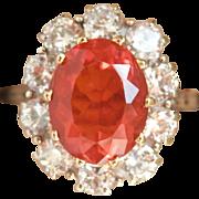 Sensational 18K W/Gold 1.80 Ct. Fire Opal Diamond Ring