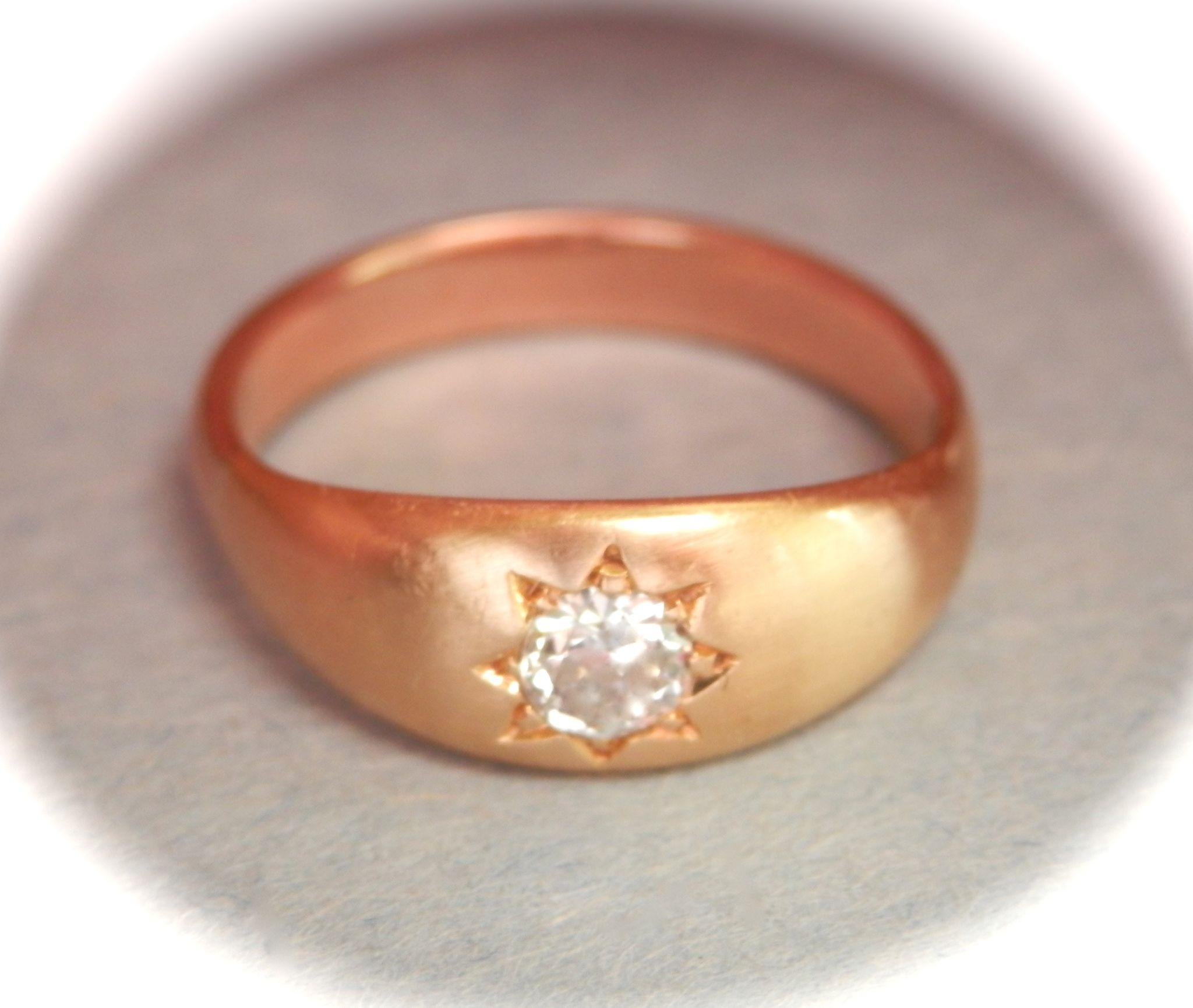 Twinkling 18K & 9K Gold Victorian/Edwardian Diamond Gypsy Ring