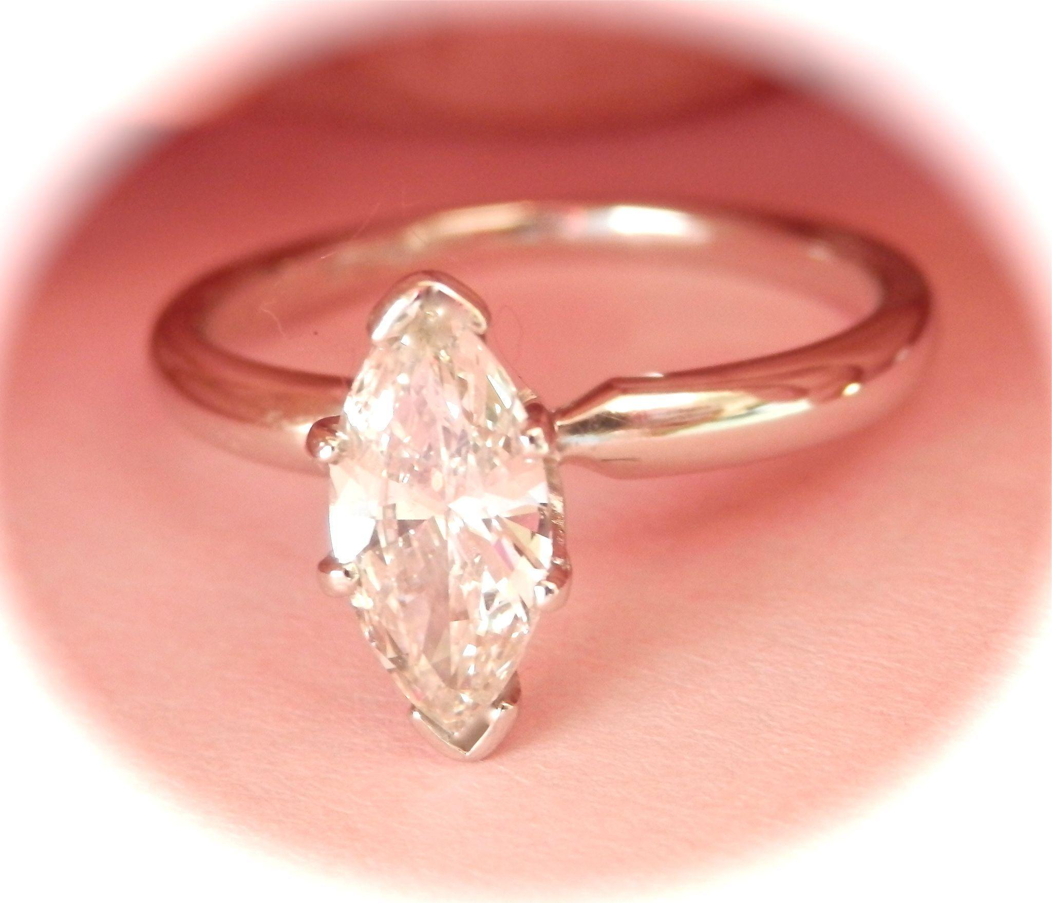 Terrific 14K W/Gold Platinum 0.81 ct. VS Diamond Solitaire Ring