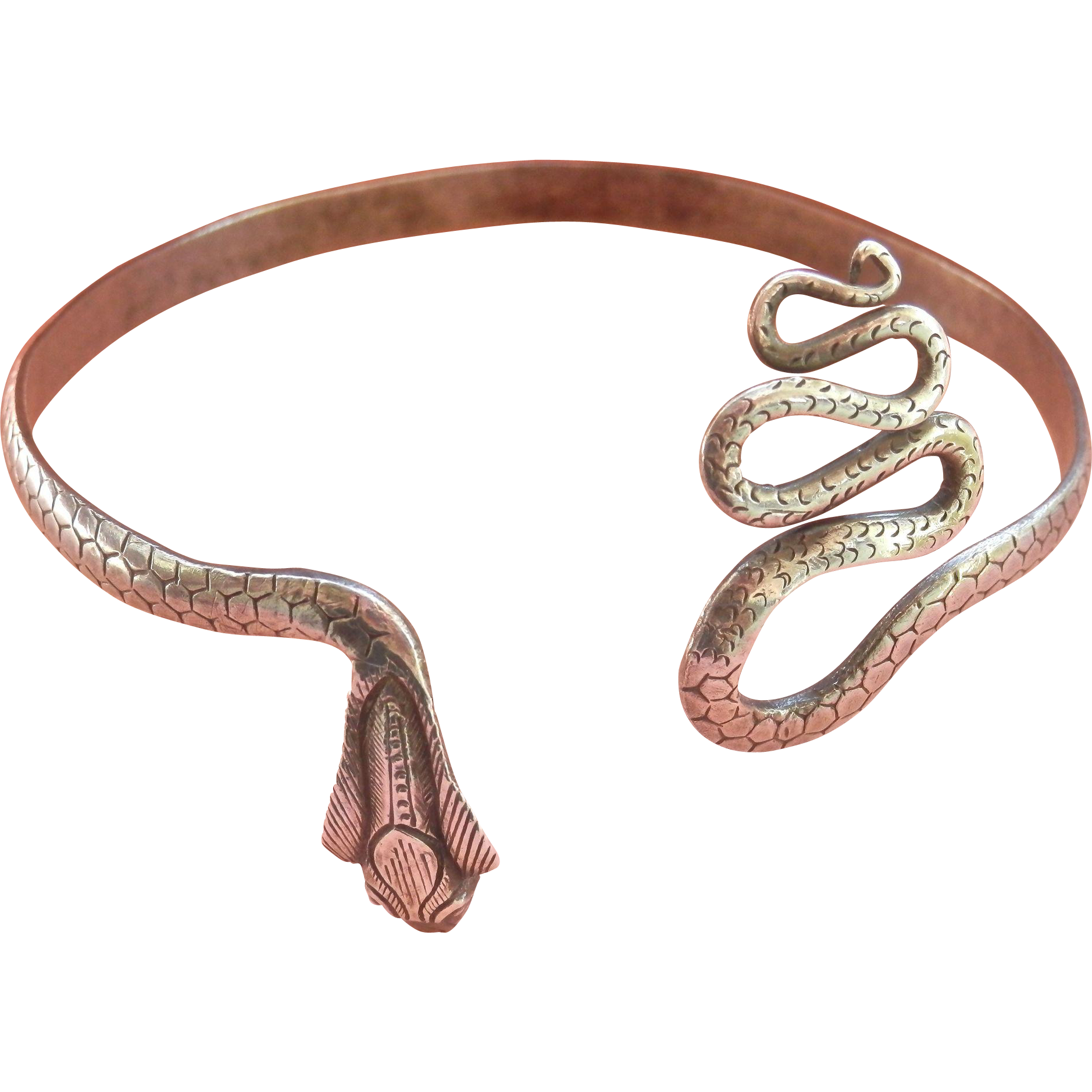 Detailed Handmade Sterling Silver Snake Bracelet~18 grams!