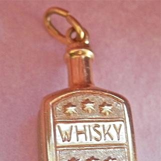 ~Terrific 10K Y/Gold Whisky Bottle Pendant or Charm~