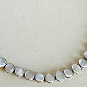 Beautiful Edwardian/Art Deco Natural Moonstone Cab Silver Bracelet