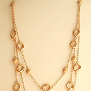 Gorgeous 14K Gold Multi-Strand Bead Necklace