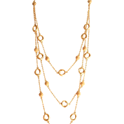 Gorgeous 14K Gold Multi-Strand Bead Necklace~13.0 gms