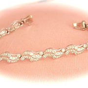 Exquisite 18K White Gold 2.60 CTW Diamond Link Bracelet