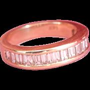 Sleek 14K Gold 1.44ct. Baguette-Cut Diamond Ring