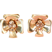 Final Markdown! Stunning Vintage 14K Gold Rose-Cut Diamond Earrings