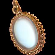 Shimmering 9CT/9K Moonstone Vintage Pendant