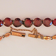 Gorgeous Antique 9K Gold Natural Garnet Bracelet