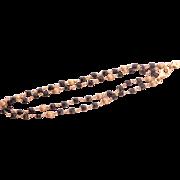 Onyx Bead 14K Gold Necklace