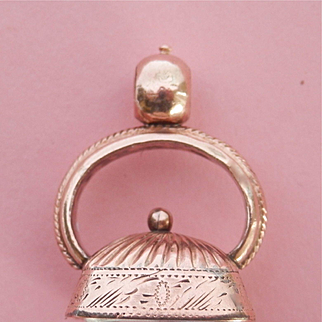 Victorian Rose gold-filled Rock Crystal Watch Fob Pendant