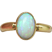Sale! 18K Gold 0.78 ct. Natural Opal Vintage Ring