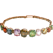 Fabulous Art Deco Multi-Gemstone Silver Bracelet