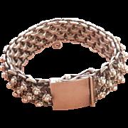 Heavy Joy-Mex Silver Cannetille Vintage Bracelet~76 grams!