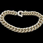 Solid Heavy Sterling Silver Vintage Link Bracelet~33+grams!