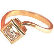 18K Yellow Gold .65ct. OMC Diamond Ring