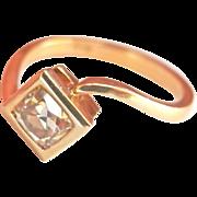 18K Yellow Gold .65ct. OMC Diamond Ring