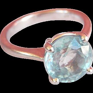 Vintage 2.62 Ct. Aquamarine Platinum Ring