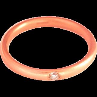18K Gold Pomelatto Diamond Lucciole Band Ring