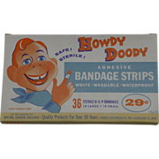 NOS Howdy Doody Bandage Strips In Original Box