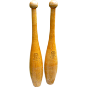 Pair Of Spalding Indian Juggling Pins