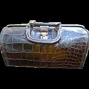 Vintage Upjohn Alligator Doctor's Bag