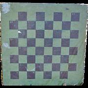 Folk Art Double Sided Gameboard In Old Paint