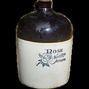 Rose Distiller Atlanta Georgia Stoneware Jug
