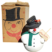 Christmas Snowman Candy Container