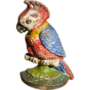 Hubley Cast Iron Cockatoo Door Stop