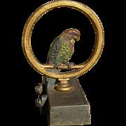 Bradley Hubbard Parrot In A Ring Cast Iron Doorstop