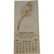 1956 Pennsylvania Pin Up Calendar