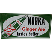 Norka Ginger Ale Advertising Sign