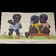 Cute Black Americana Indiana Souvenir Postcard