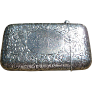 Beautiful Sterling Match Safe Dated 1904
