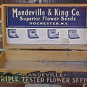 Mandeville Flower Seed Counter Display Box