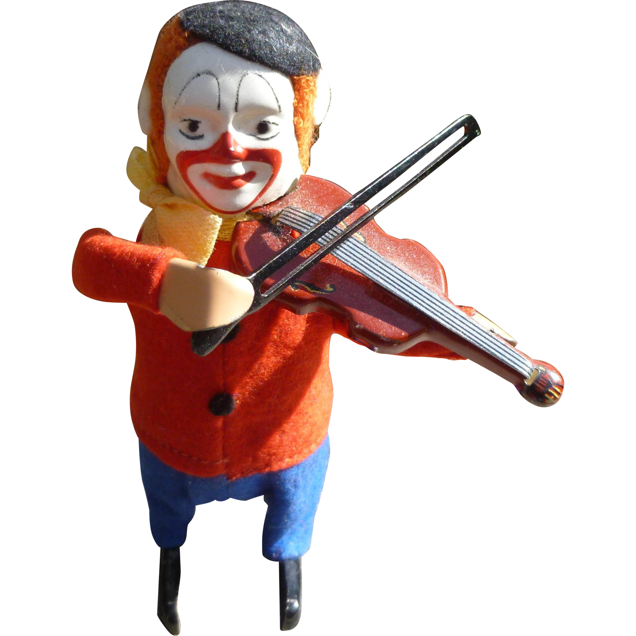 Toy Violins For 3 And Up : Schuco clown playing violin wind up toy from