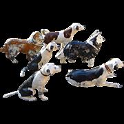 Dollhouse Lead Dog Figures