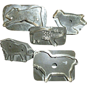 Soldered Tin Animal Cookie Cutters