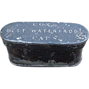 Civil War Era Cox's Percussion Caps Tin With Soldier's Name