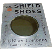 Antique Shield Shoes Advertising Mirror Sign Atlanta Georgia
