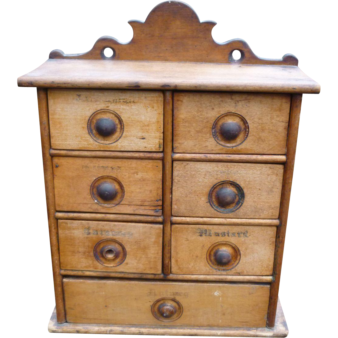 Drawer antique spice chest from amazingamericana on ruby