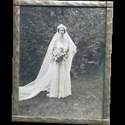 Lovely Framed 20's Wedding Bride Photograph