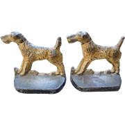 Airedale Terrier Cast Iron Bookends