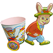 Ohio Art Tin Easter Bunny And Cart