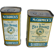 Bee Brand Spice Tins