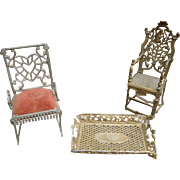 Metal Dollhouse Furniture And Accessories