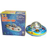 Battery Operated Japan X-7 Space Explorer Ship W/Original Box