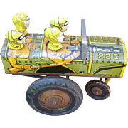 Marx Jumpin Jeep Tin Wind Up Toy